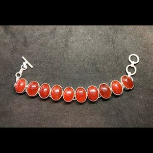 Vintage Carnelian 925 Bracelet for cancer and Leo